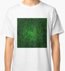 Silhouette of fingerprint Classic T-Shirt