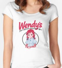 Wendy's Japanese  Women's Fitted Scoop T-Shirt