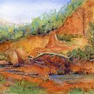Red Desert Miniature 1 Painting by Heatherian
