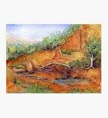 Red Desert Miniature 1 Painting Photographic Print