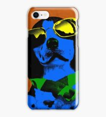 BLUE DOG FUNNY DOG COOL DOG iPhone Case/Skin