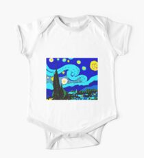 Starry Night (Hommage to Vincent Van Gogh) by Tuticki  One Piece - Short Sleeve