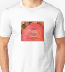 FEAR - Marie Curie Quote on Red Apple T-Shirt