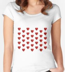 Helium hearts pattern Women's Fitted Scoop T-Shirt