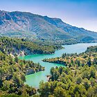 The river enters Guadalest reservoir by Ralph Goldsmith