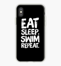 Eat Sleep Swim repeat - funny swimming iPhone Case