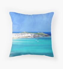 St Ives, Cornwall - Original, version 2 Throw Pillow