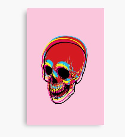 INSIDE OF ME THERE IS A CMYK SKULL FOR PRINT Canvas Print