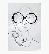 Iris Apfel Sketch Photographic Print