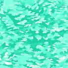 Foliage Abstract  Pop Art Aqua by taiche