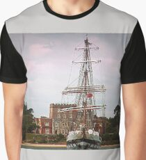 Tall Ship On The Solent - Dorset UK Graphic T-Shirt