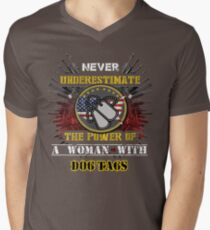 A Girl With Dog Tags T-Shirt