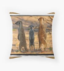 The Three Stooges Throw Pillow