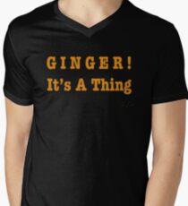 GINGER! It's A Thing Men's V-Neck T-Shirt