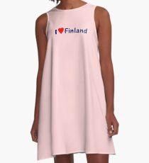 Suomi T-Paidat / T-Paitoja Vaatteista ~ I Love Finland T-Shirt and Top A-Line Dress