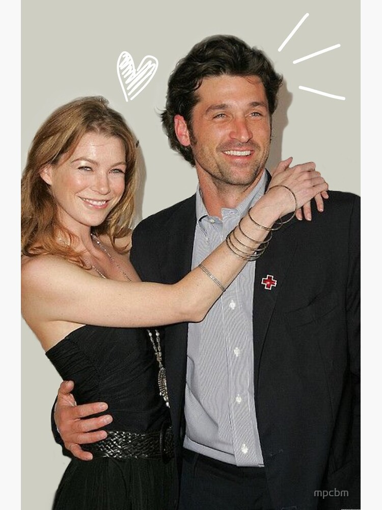 Ellen Pompeo And Patrick Dempsey Greeting Card