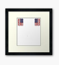 I didn't serve this country for pussies to tell me Framed Print