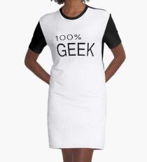 100% Geek Hipster Nerd Fashion T Shirt Graphic T-Shirt Dress