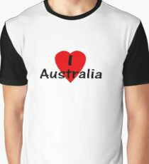 I Love Australia - T-Shirt & Sticker Graphic T-Shirt