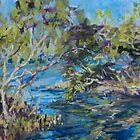 Laurieton mangroves - plein air by Terri Maddock