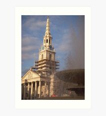 St. Martins and the fountain Art Print