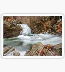 frozen waterfall in forest Sticker