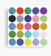 colorful illustration  with polygonal circles set on white background Canvas Print