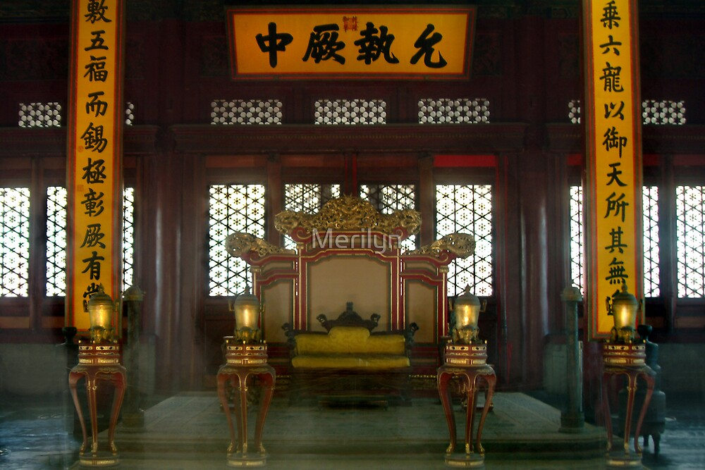 Throne room of the Emperor by Merilyn