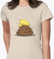 Donald Trump Poop Cartoon Women's Fitted T-Shirt