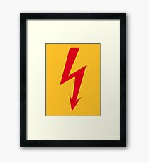 Flash / Blitz / Éclair / Rayo / Fulmine (Red) Framed Print