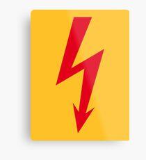 Flash / Blitz / Éclair / Rayo / Fulmine (Red) Metal Print