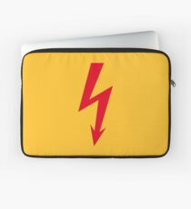 Flash / Blitz / Éclair / Rayo / Fulmine (Red) Laptop Sleeve