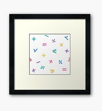 Mathematical Pattern Framed Print