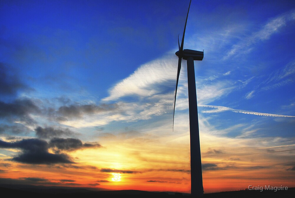 Windmill Sunset by Craig Maguire