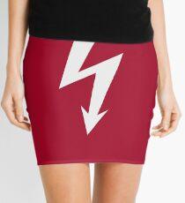 Flash / Blitz / Éclair / Rayo / Fulmine (White) Mini Skirt