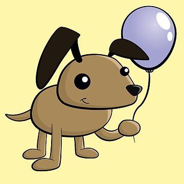Birthday Dog Cute Cartoon by rideawave