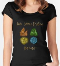 Do you even bend? Women's Fitted Scoop T-Shirt