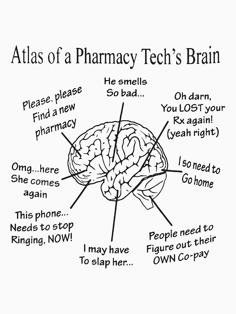 Atlas Of A Pharmacy Techs Brain T Shirts T Shirt By Briantnagle