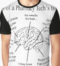 Atlas Of A Pharmacy Techs Brain T-shirts Graphic T-Shirt