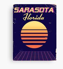 Sarasota Florida 1980s vintage travel Canvas Print