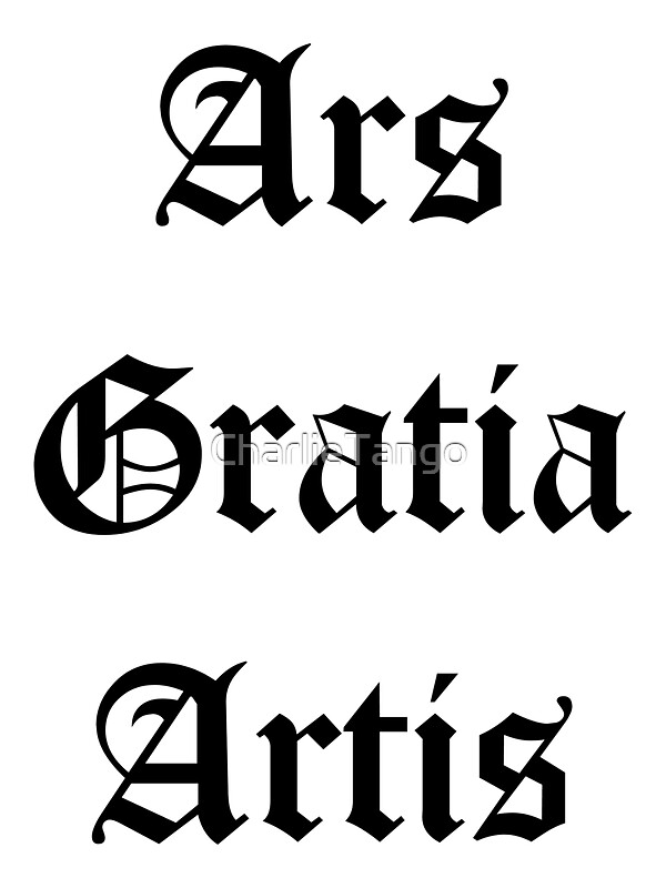 ars gratia artis stickers by charlietango redbubble. Black Bedroom Furniture Sets. Home Design Ideas