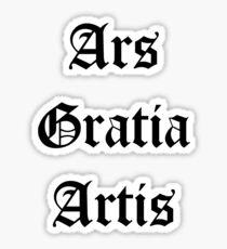 ars gratia artis stickers redbubble