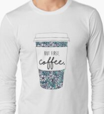 Floral Coffee Long Sleeve T-Shirt