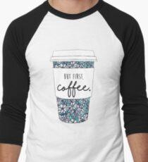 Floral Coffee Men's Baseball ¾ T-Shirt