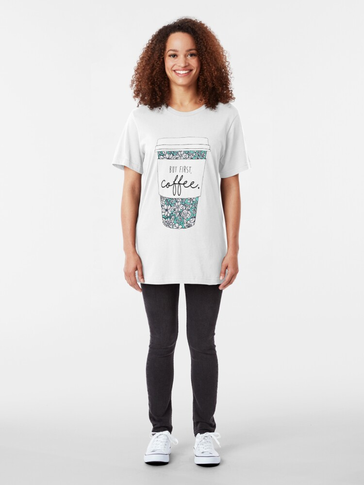 Alternate view of Floral Coffee Slim Fit T-Shirt