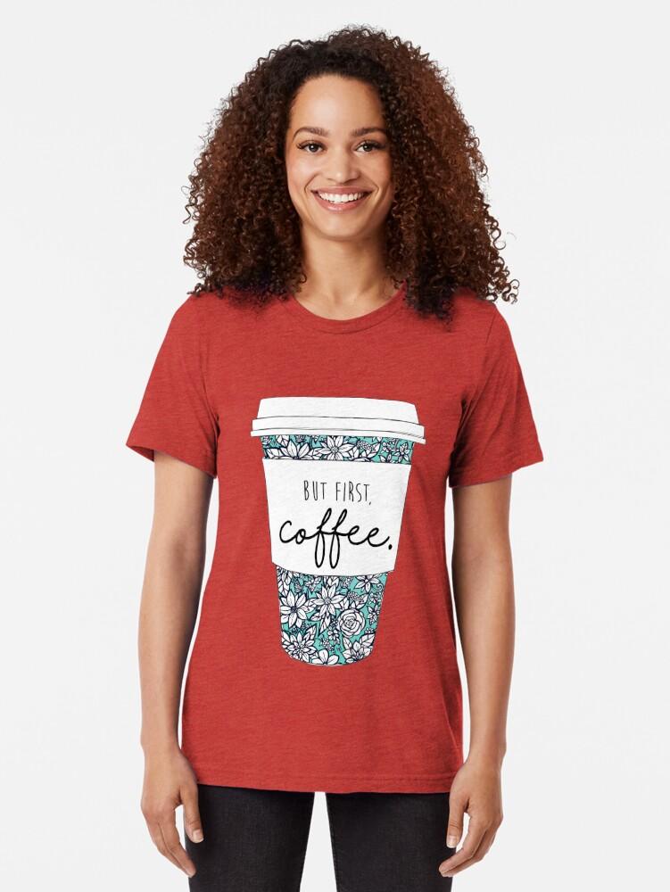 Alternative Ansicht von Blumenkaffee Vintage T-Shirt