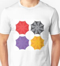 Set of Colorful Umbrella Isolated on White Background T-Shirt