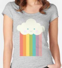 Proud rainbow cloud Women's Fitted Scoop T-Shirt