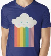 Proud rainbow cloud Men's V-Neck T-Shirt