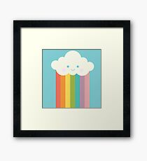 Proud rainbow cloud Framed Print